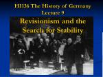 HI136 The History of Germany Lecture 9