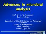 Advances in microbial analysis