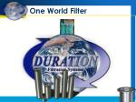 One World Filter