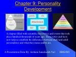 Chapter 9: Personality Development