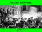 Populism and Protest: