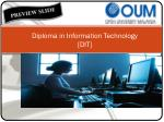 Diploma in Information Technology  [DIT]