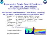 Representing Gravity Current Entrainment in Large-Scale Ocean Models