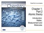 Chapter 1: Part 2 Atomic theory