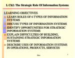 L Ch2: The Strategic Role Of Information Systems