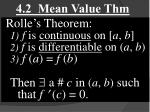 4.2 Mean Value Thm
