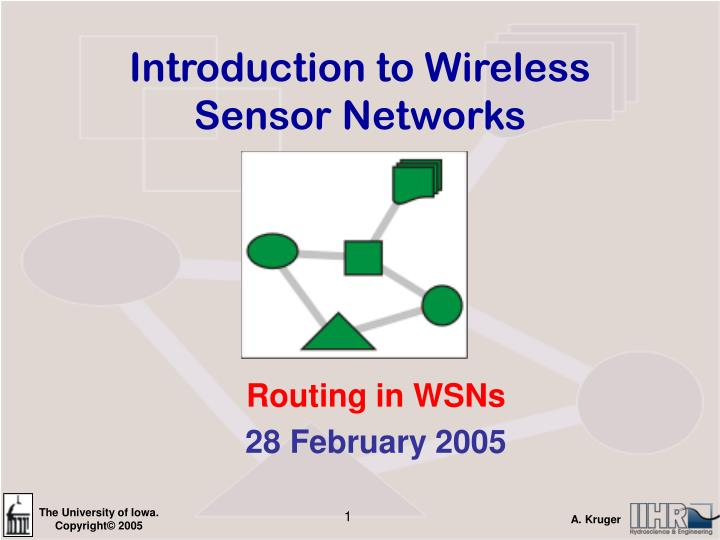 introduction to wireless sensor networks n.