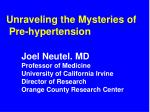 Unraveling the Mysteries of Pre-hypertension