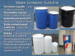 Waste Container Guideline