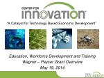 """""""A Catalyst for Technology Based Economic Development"""""""