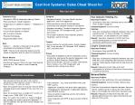 Cast Iron Systems: Sales Cheat Sheet for