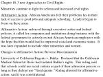 Chapter 18-3 new Approaches to Civil Rights: