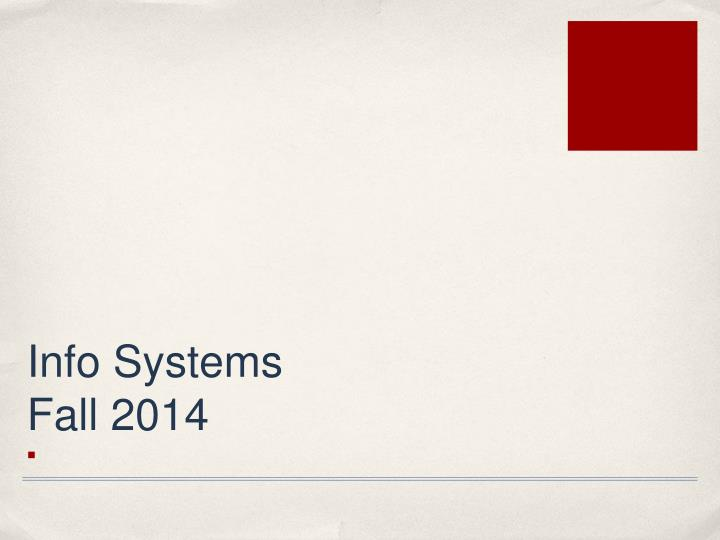 info systems fall 2014 n.