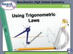 Using Trigonometric Laws