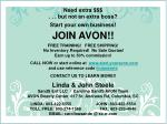 Need extra $$$ . . . but not an extra boss? Start your own business! JOIN AVON!!