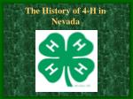 The History of 4-H in Nevada