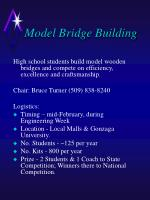 Model Bridge Building