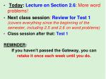 Today : Lecture on Section 2.6 : More word problems!
