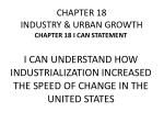 CHAPTER 18 INDUSTRY & URBAN GROWTH