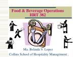 Food & Beverage Operations  HRT 382