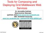 Tools for Composing and Deploying Grid Middleware Web Services