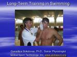 Long-Term Training in Swimming