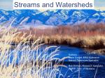 Streams and Watersheds