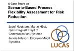 A Case Study on Scenario-Based Process Flexibility Assessment for Risk Reduction