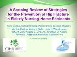 A Scoping Review of Strategies for the Prevention of Hip Fracture