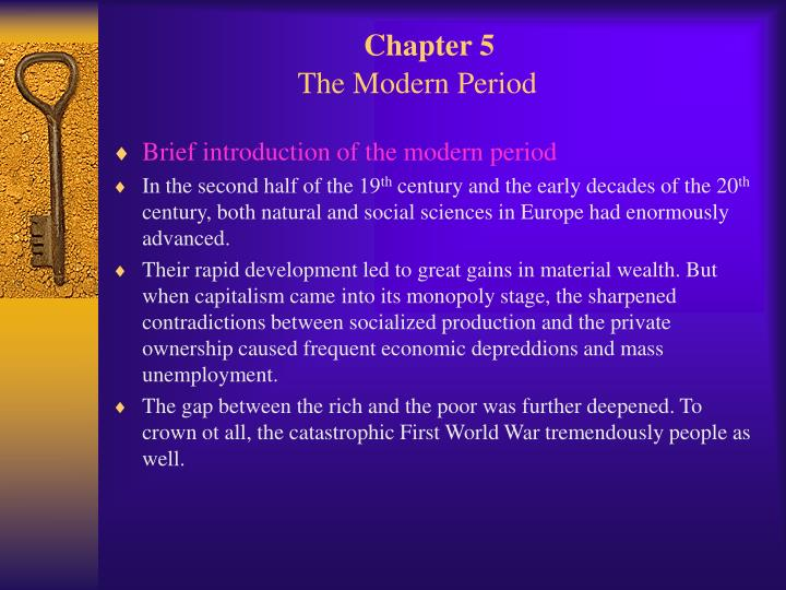chapter 5 the modern period n.