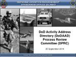 DoD  Activity Address Directory (DoDAAD) Process Review Committee (DPRC)