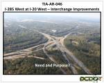 TIA-AR-046 I-285 West at I-20 West – Interchange Improvements