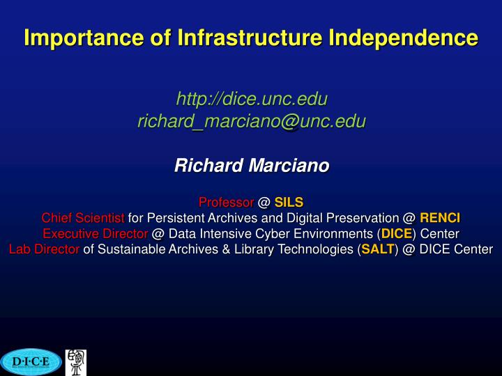 importance of infrastructure independence n.