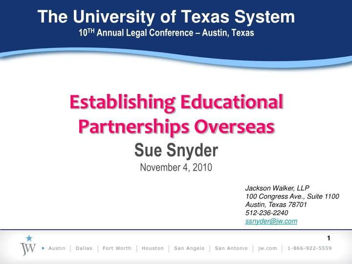 the university of texas system 10 th annual legal conference austin texas n.
