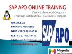 SAP APO ONLINE TRAINING IN HYDERABAD