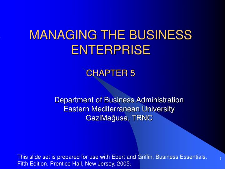 managing the business enterprise n.