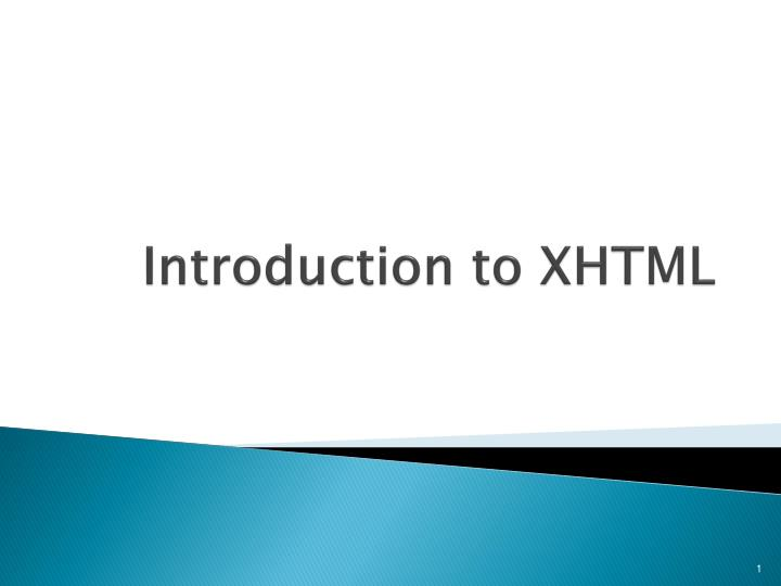 introduction to xhtml n.