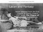 Lacan and Fantasy