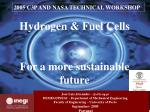 Hydrogen & Fuel Cells For a more sustainable future