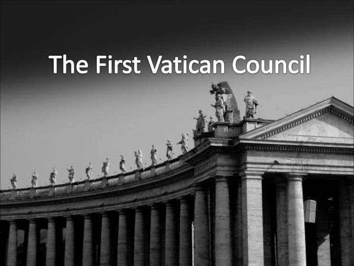 the first vatican council n.