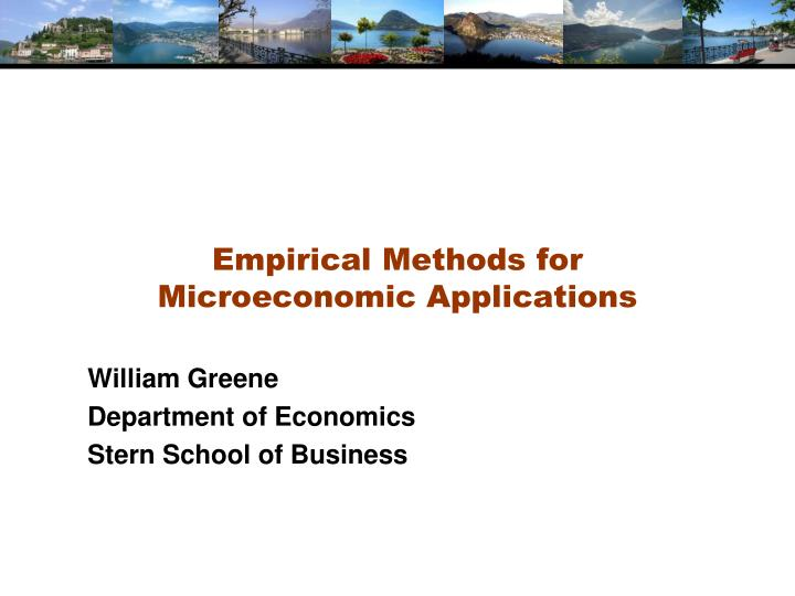 empirical methods for microeconomic applications n.
