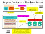 Snippet Engine as a Database Server