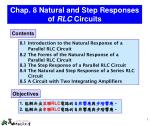 Chap. 8 Natural and Step Responses of RLC Circuits