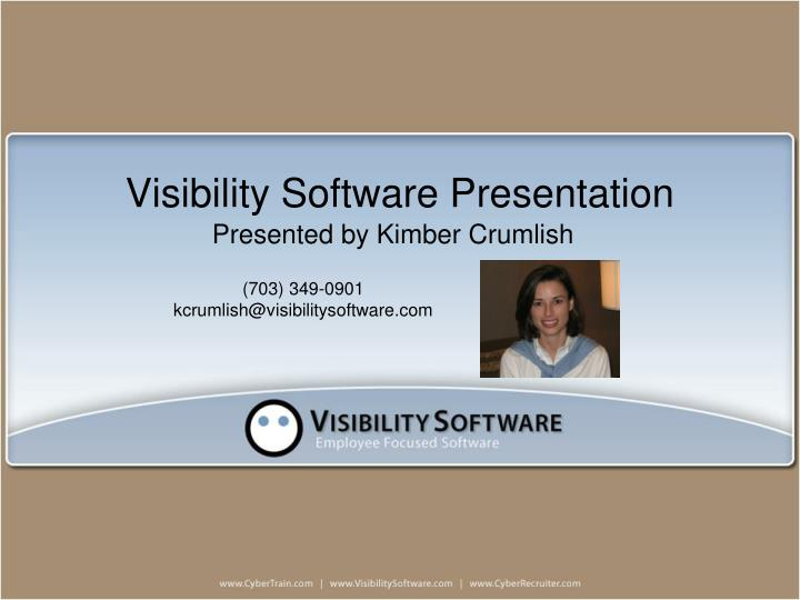 visibility software presentation n.