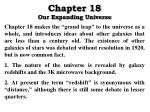 Chapter 18 Our Expanding Universe