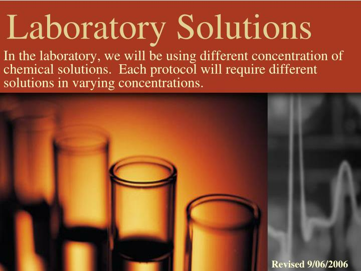 laboratory solutions n.