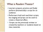 What is Readers Theater?