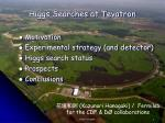 Higgs Searches at Tevatron