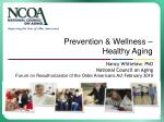 Prevention & Wellness –  Healthy Aging