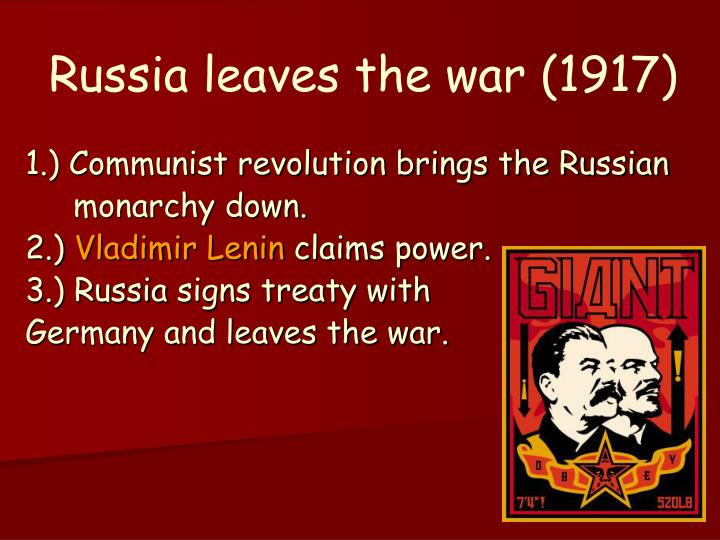 russia leaves the war 1917 n.